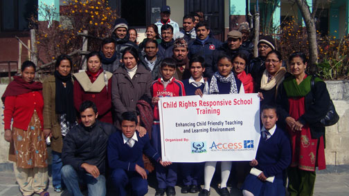 Group picture after the training on Child Rights Responsive School